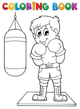 exercise book: Coloring book sport and gym theme