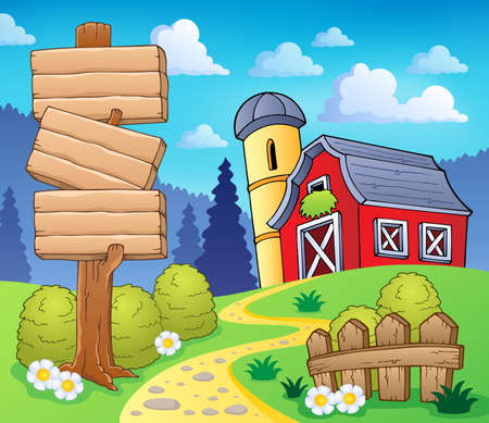 farmhouse: Farm theme image  Illustration