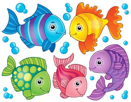Fish theme image  Vector