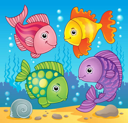 Fish theme image  Stock Vector - 19059113