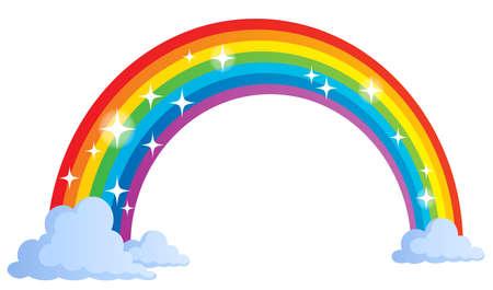 Afbeelding met regenboog thema Vector Illustratie