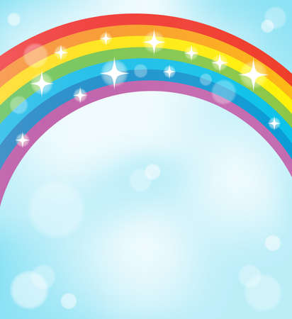Image with rainbow theme   Ilustracja