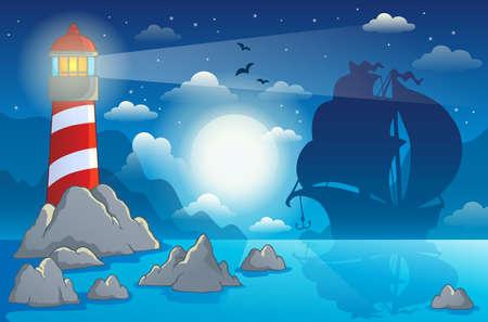 Lighthouse theme image Vector