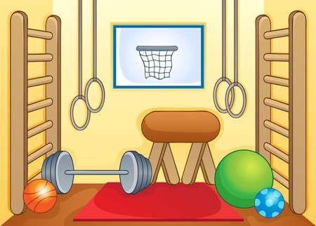 gym room: Imagen del tema de gimnasia y deporte