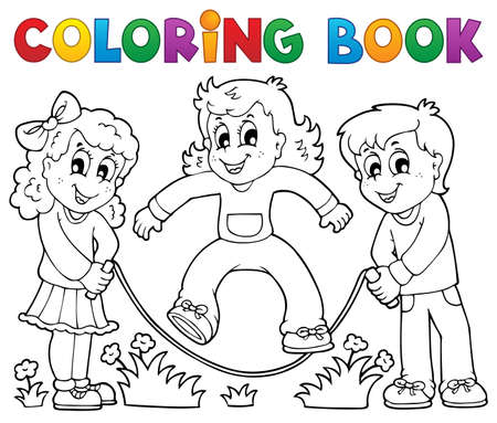 skipping: Coloring book