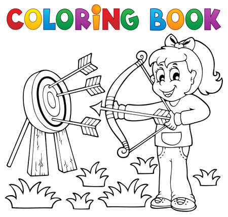 active arrow: Coloring book