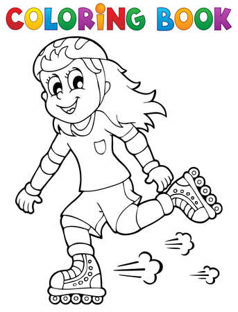 roller skate: Coloring book outdoor sport