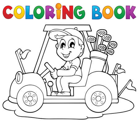 Coloring book outdoor sport  Vector