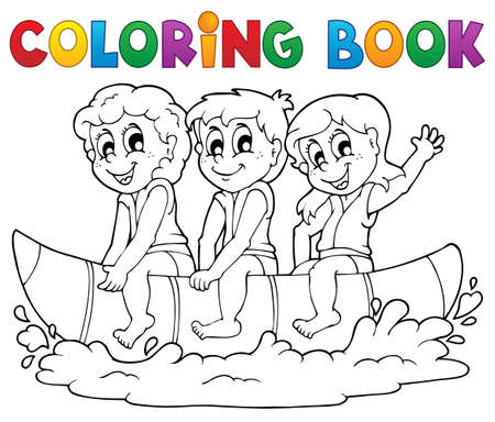 coloring book: Coloring book water sport