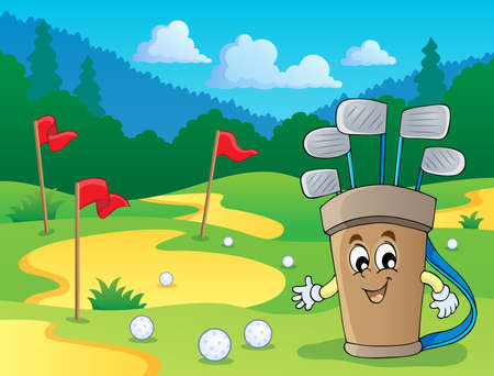 Image with golf theme  Vector