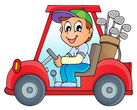 golf cart: Image with golf