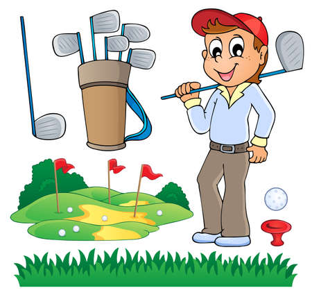 sporting activity: Image with golf  Illustration