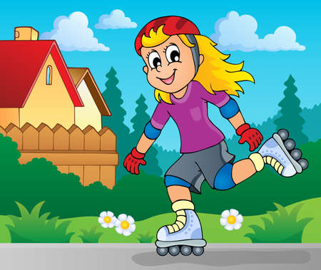rollerskating: Outdoor sport theme