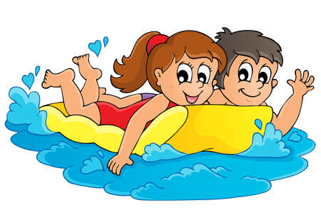 Summer water activity  Stock Vector - 19352498