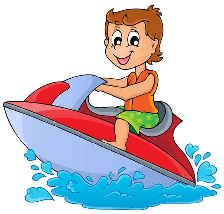 Water sport theme  Ilustração