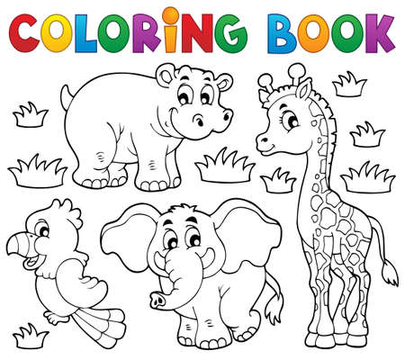 young animal: Coloring book African fauna 1