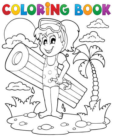 Coloring book summer activity 2  Illustration