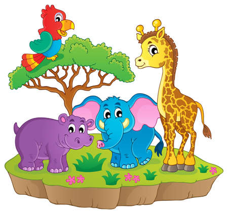 camelopard: Cute African animals theme image 2   Illustration