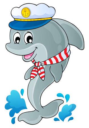 marinero: Imagen con el tema de los delfines 1