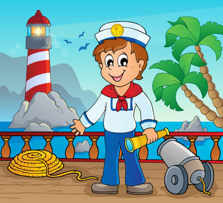 a cannon: Image with sailor theme 2