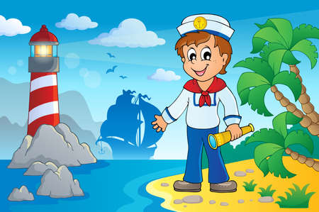 Image with sailor theme 5   Vector