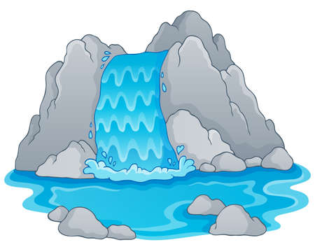 Obraz z wodospadem tematu 1