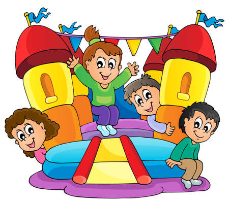 Kids play theme image 9 Vector