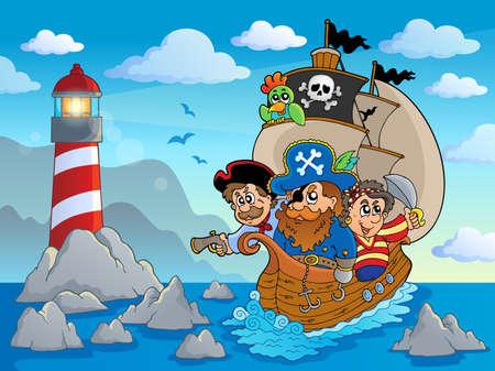 nautical: Lighthouse theme image 6   Illustration