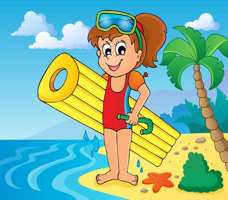 snorkel: Summer water activity theme 6