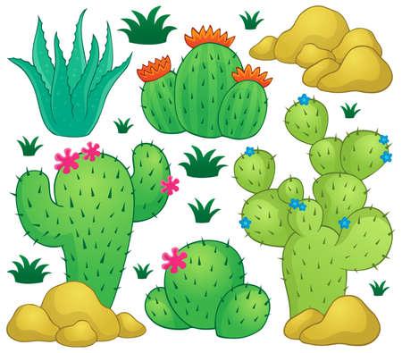 desert: Cactus theme image Illustration