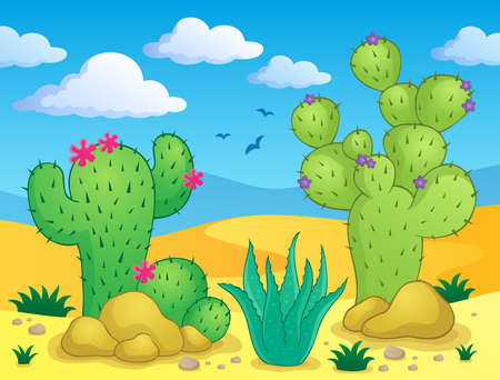 spiny: Cactus theme image   Illustration