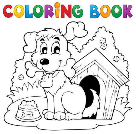 dog kennel: Coloring book dog theme