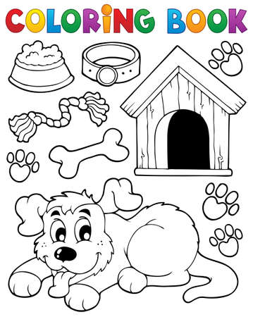 doghouse: Coloring book dog theme