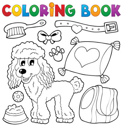 poodle: Coloring book dog theme