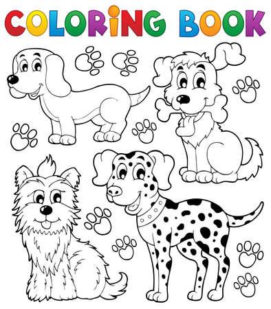 Coloriage thème de chien de livre