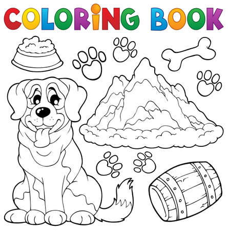 rescue dog: Coloring book dog theme
