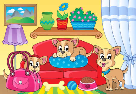Cute dog theme image  Stock Vector - 20027376