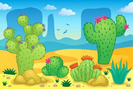 cactus desert: Beeld Woestijn thema