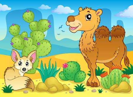 animales del desierto: Imagen del tema Desert Vectores