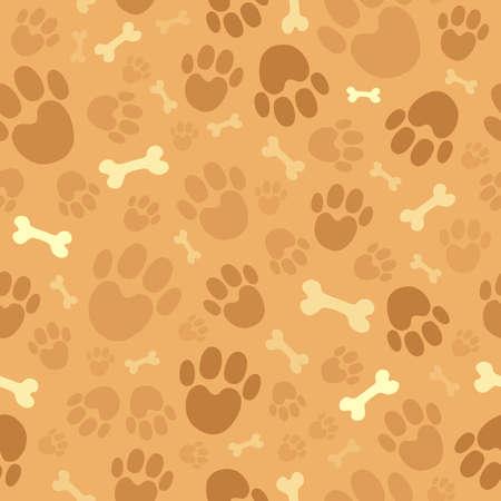 huellas de perro: Perro tema de fondo sin fisuras Vectores