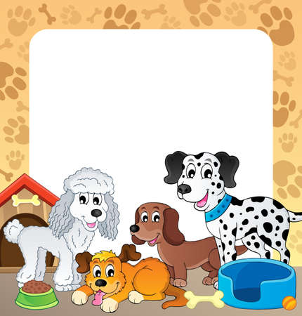 kennel: Frame with dog theme