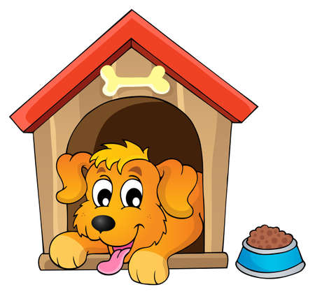 kennel: Image with dog theme  Illustration