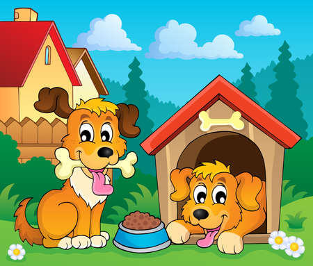 dog kennel: Image with dog theme