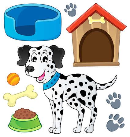 dalmatier: Afbeelding met hond thema Stock Illustratie