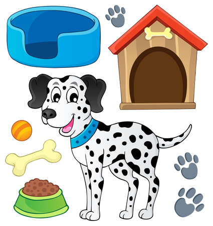 Image with dog theme   Stock Vector - 20026999