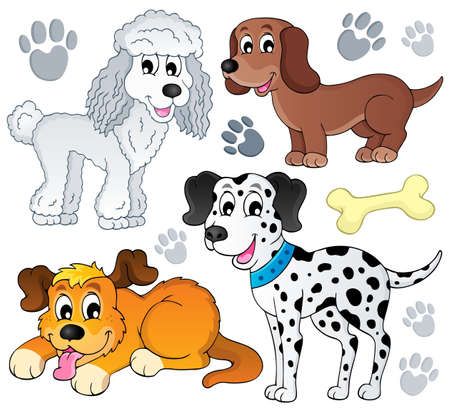 Image with dog topic  Illustration
