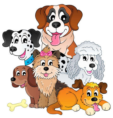 pets: Image with dog topic Illustration