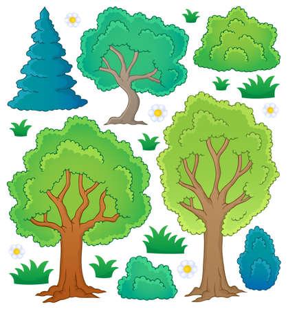 arboles frondosos: Tema colección Tree
