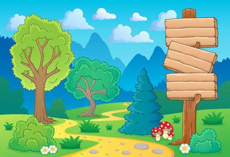 Tree theme landscape  Vector