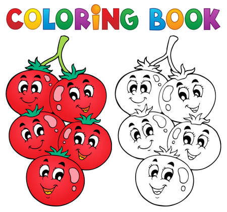 Coloring Book Vegetable Theme Vector
